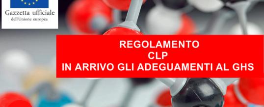 Regolamento CLP si aggiorna: adeguamento al GHS