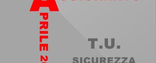 Testo Unico Sicurezza, aggiornato Aprile 2019
